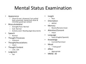 HISTORY COLLECTION AND MENTAL STATUS EXAMINATION MODEL IN